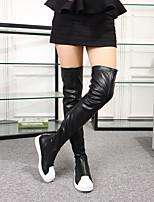 Women's Shoes Flat Heel  Round Toe Boots Dress Black