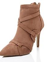 Chaussures Femme - Extérieure / Décontracté - Noir / Marron - Talon Aiguille - Rangers / Bout Pointu - Bottes - Daim