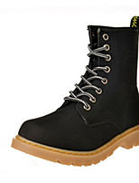 Women's Shoes  Low Heel Round Toe Boots Casual Black / Brown / Yellow