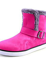 Women's Shoes Flat Heel Snow Boots / Riding Boots / Fashion Boots Outdoor / Office & Career / Casual Black / Red / Khaki