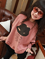 Girl's Korean Fashion Cotton Batwing Sleeve Blouse(Pink, Gray)