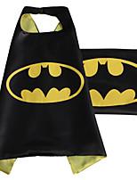 Superman Cape 69CM*70CM Sided Satin Fabric Cape + Mask Superman Batman Spiderman Super Hero Capes Role Play
