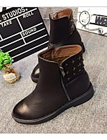 Women's Shoes Flat Heel Riding Boots Boots Casual Black