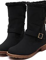 Women's Shoes  Chunky Heel Round Toe Boots Casual Black / Navy / Khaki
