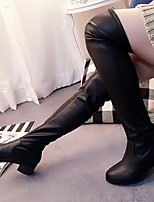 Women's Shoes  Chunky Heel Combat Boots / Round Toe Boots Outdoor / Casual Black