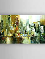 Oil Painting Abstract Buildings  Painting Hand Painted with Stretched Framed Ready to Hang