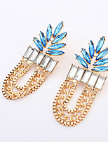 Women's European Style Fashion Exaggerated Leaf Alloy  Acrylic Earring