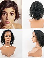 12inch Spitzefronthaarperücken des indischen reinen Haares 100% Menschenhaarspitzefrontwellenförmige Art Perücken für Frauen
