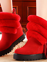 Women's Shoes Suede Platform Snow Boots / Fashion Boots / Creepers Boots Party & Evening / Dress / Casual Black / Red