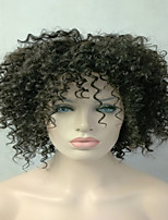 Top Quality European Natural Color #1B Kinky Curly Synthetic Hair
