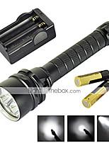 Linternas LED ( A Prueba de Agua / Recargable / Resistente a Golpes / Bisel de Impacto / Táctico / Emergencia ) - LED 2 Modo 6800 Lumens