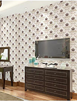Home Decor Art Colorful Floral Country Classical Wallpaper Wall Covering  PVC Wall Paper 10*0.45 M