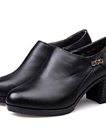Women's Shoes Synthetic Chunky Heel Heels Heels Office & Career / Party & Evening / Dress / Casual Black / Brown