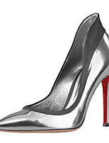Women's Shoes Patent Leather Stiletto Heel Heels / Pointed Toe Heels Wedding / Party & Evening / Dress Red / Silver