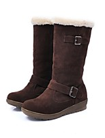 Women's Shoes Low Heel Round Toe / Closed Toe Boots Office & Career / Dress / Casual Brown / Red / Taupe