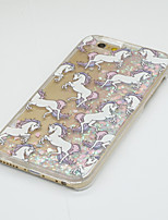 Pattern Heart Fluorescent Liquid Quicksand with The Unicorn PC Case for iPhone 7 7 Plus 6s 6 Plus SE 5s 5