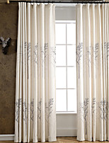 Linen Tree Printing Curtain (Two Panel)