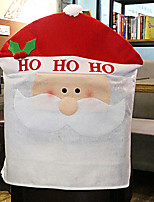 Santa Hat Cartoon Chair Cover for Christmas Dinner Table Party Decoration