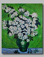 prêt à accrocher étiré peinture à l'huile toile van peint à la main gogh vase repro avec des coquelicots blancs un panneau