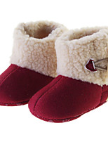 Baby Shoes Outdoor / Casual Leatherette Boots Burgundy / Khaki