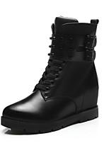 Chaussures Femme - Bureau & Travail / Décontracté / Soirée & Evénement - Noir - Talon Plat - Bottes à la Mode - Bottes - Similicuir