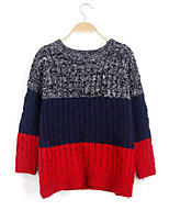 Women's Fashion Casual Gradient Cashmere Pullover Knit Sweater
