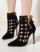 Women's Shoes  Stiletto Heel Platform / Bootie / Comfort / Round Toe / Closed Toe Boots Casual Black