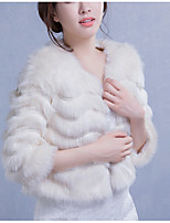 Wedding / Party/Evening / Office & Career / Casual Faux Fur Shrugs Long Sleeve Wedding  Wraps / Fur Wraps / Fur Coats