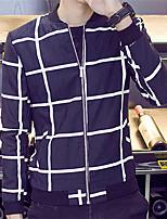 DMI™ Men's Mock Neck Checks Casual Jacket