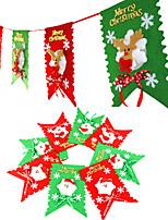 Noël suspendu drapeaux forme de père noël pour la fête à la maison de vacances deracotion