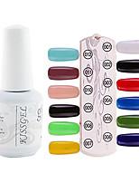 YeManNvYou®1PCS Sequins UV Color Gel Nail Polish No.01-12 Soak-off(15ml,Assorted Colors)