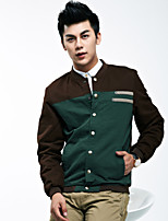 2015 spring and autumn jacket young male Korean fashion men's casual wear thin coat collar,