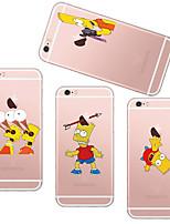 Для Кейс для iPhone 5 Чехлы панели Прозрачный С узором Задняя крышка Кейс для Композиция с логотипом Apple Мягкий TPU дляiPhone SE/5s