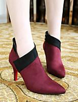 Temperament Pointed Suede Women's Wedding Thin Heel Platform Pumps/Heels Boots