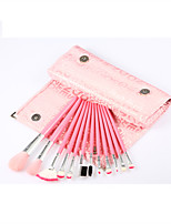 Monsia® Pretty Pink Makeup Brushes Set 12Pcs with Bag