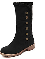 Women's Shoes  Chunky Heel Round Toe Boots Casual Black / Khaki