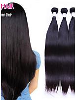 capelli vergini brasiliani di diritto lotto 3pcs prodotti per i capelli e il 100% non trattati capelli umani vergini