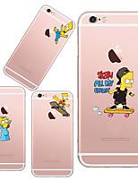 Для Кейс для iPhone 5 Ультратонкий / Прозрачный / С узором Кейс для Задняя крышка Кейс для Композиция с логотипом Apple Мягкий TPUiPhone