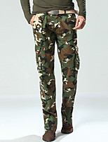 Men's Army Camouflage Long Loose Chinos , Multi-pocket Casual / Sport / Plus Sizes Cotton