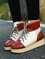 Women's Shoes Flat Heel Snow Boots / Round Toe Boots Office & Career / Party & Evening / Casual Brown / Warm velvet