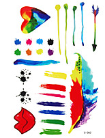 1 Pc Colorful and Creative Pattern Temporary Tattoo Stick Keeping 7 Days