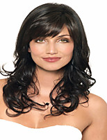 Popular Lady Women Black Syntheic Wave Wigs