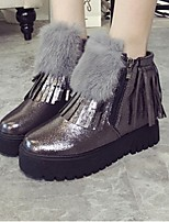 Women's Shoes Platform Fashion Boots / Closed Toe Boots Casual Black / Gray