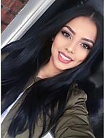 Cheap Long Silk Straight Brazilian Virgin Hair Lace Front Human Hair Wigs