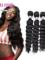 6A Brazilian Virgin Hair 3 Bundles Natural Wave Hair Products Brazilian Hair Human Hair No Shed