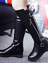 Women's Shoes Low Heel Fashion Boots / Round Toe Boots Party & Evening / Dress / Casual Black