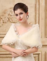 Lace Edge Sleeveless Wedding Wraps Imitation Cashmere Capelets/Wraps/Shawls