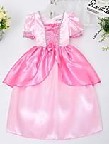 Girl's Pink Dress , Dresswear Satin All Seasons