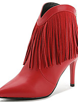 Women's Shoes Synthetic Stiletto Heel Heels / Fashion Boots Heels / Boots Party & Evening / Dress / Casual Black / Red
