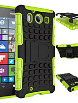 TPU+ PC Hybrid Rugged Rubber Armor stand Hard Cover Cases For Nokia Lumia 950